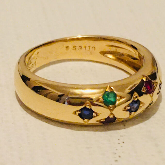 CHAUMET(ショーメ)のショパール  マルチカラーリング美品10,5号 レディースのアクセサリー(リング(指輪))の商品写真