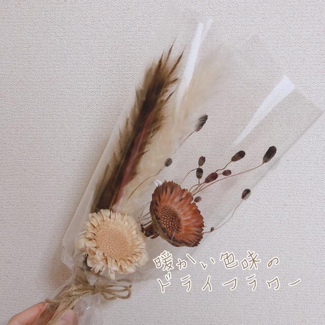 人気のドライフラワースワッグ 花束 ハンドメイドのフラワー/ガーデン(ドライフラワー)の商品写真
