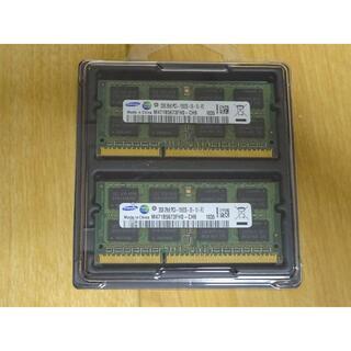 サムスン(SAMSUNG)のノートPC用メモリ SAMSUNG  2GB×2枚組 (DDR3-1066) (ノートPC)