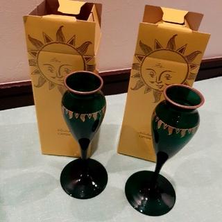 ノリタケ(Noritake)のノリタケクリスタル 一輪挿し  2セット(花瓶)