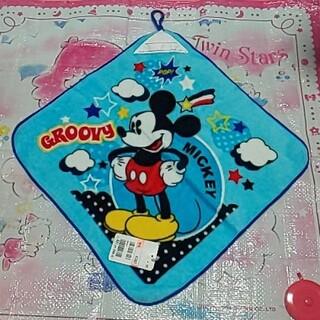 ディズニー(Disney)のミッキーループ付きお手拭きタオル×②(その他)