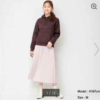 ジーユー(GU)のGU フェイクレザープリーツスカート (ロングスカート)