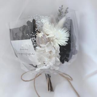 モノトーン ドライフラワー 花束 ブーケ ギフト バレンタイン(ドライフラワー)