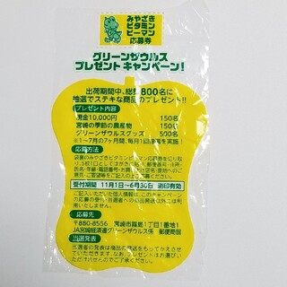 グリーンザウルス プレゼント キャンペーン みやざき ビタミン ピーマン 応募券(野菜)
