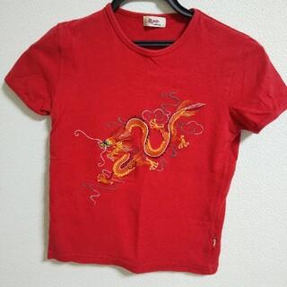 ヴィヴィアンタム(VIVIENNE TAM)のヴィヴィアンタム 龍 刺繍 Tシャツ (赤)(Tシャツ(半袖/袖なし))