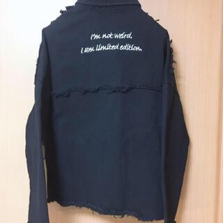 Black denim jacket(Gジャン/デニムジャケット)
