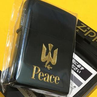 ジッポー(ZIPPO)のZIPPO PEACE 非売品 ピース ブルーチタン ゴールド 新品未使用(タバコグッズ)