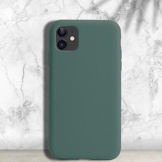 アイフォーン(iPhone)のiPhone12/12pro シリコンケース キプロスグリーン(iPhoneケース)