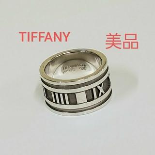 ティファニー(Tiffany & Co.)のTIFFANY 美品 アトラス シルバー 925 ワイド リング 指輪 正規(リング(指輪))