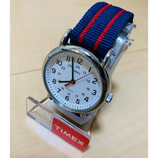 タイメックス(TIMEX)の【中古】時計 TIMEX  ウィークエンダー セントラルパーク ブルー/レッド(腕時計(アナログ))