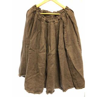ツムグ(tumugu)の麻スカート (ひざ丈スカート)