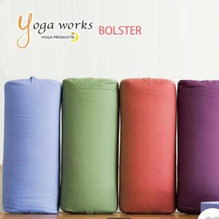 Yoga works ボルスター2個パープル/ティーグリーン(ヨガ)