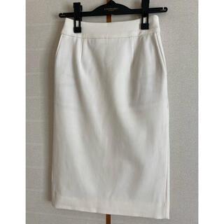 プラステ(PLST)のプラステ ウォームリザーブ スカート 白 XS(ひざ丈スカート)