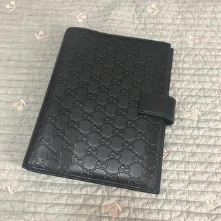 Gucci - 正規品 Gucci グッチ 手帳 手帳カバー 大きい ブラック 黒 GG
