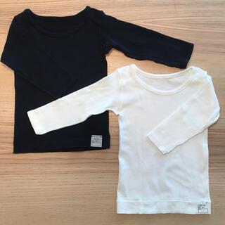 ムジルシリョウヒン(MUJI (無印良品))の無印良品/肌着/長袖/90㎝/綿100%/2枚セット/オーガニックコットン(下着)