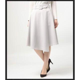 セシルマクビー(CECIL McBEE)の(新品)セシルマクビー バックルベルト付き ミモレスカート(ひざ丈スカート)