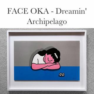 【大人気!数量限定即完売品】FaceOka フェイスオカ 版画シルクスクリーン (版画)