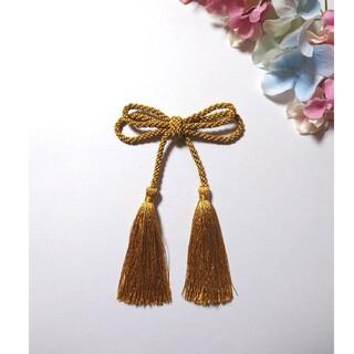 髪飾り ダブル蝶結び(ゴールド)卒業式 七五三 成人式(ヘアアクセサリー)