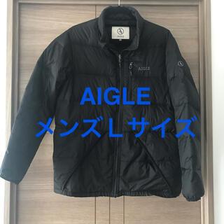 エーグル(AIGLE)のAIGLEエーグル ダウンジャケット ブラックL(ダウンジャケット)