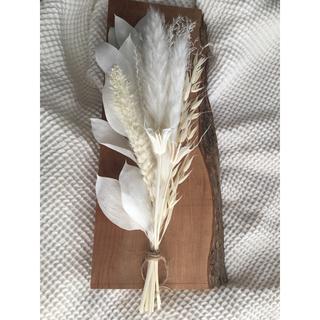 2801 テールリード スワッグ ドライフラワー 花瓶 ホワイト インテリア(ドライフラワー)