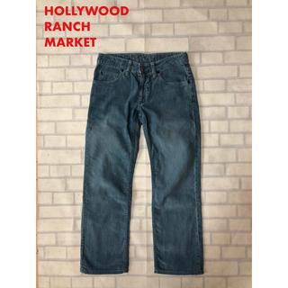 ハリウッドランチマーケット(HOLLYWOOD RANCH MARKET)のハリウッドランチマーケット コーデュロイパンツ W29 ブルー 美品(デニム/ジーンズ)