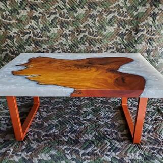 欅 レジンテーブル(ローテーブル)