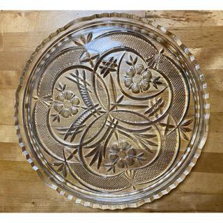 トウヨウササキガラス(東洋佐々木ガラス)の昭和レトロ 東洋ガラス 大皿 未使用品(食器)
