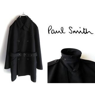 Paul Smith - 高級 ポールスミスコレクション ベルト付 ウールトレンチコート L 黒 日本製