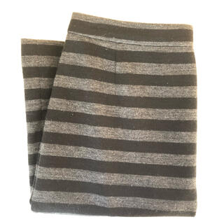 マッキントッシュフィロソフィー(MACKINTOSH PHILOSOPHY)のマッキントッシュフィロソフィー☆ボーダースカートS グレー(ひざ丈スカート)
