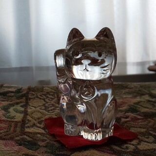 バカラ(Baccarat)の【ユー様専用】バカラ 招き猫(置物)