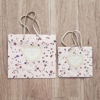 レメルヴェイユーズラデュレ(Les Merveilleuses LADUREE)のラデュレ 紙袋大小セット(ショップ袋)