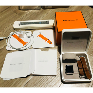 アップルウォッチ(Apple Watch)の【美品】AppleWatch series2 HERMES モデル(腕時計(デジタル))