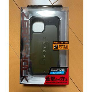 エレコム(ELECOM)の新品未開封エレコムZEROSHOCK5.4inch12miniカーキ(iPhoneケース)