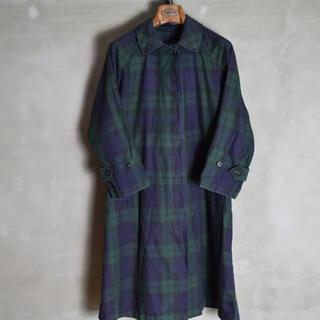 バーバリー(BURBERRY)の80s vintage Burberry balmacaan coat 一枚袖(スプリングコート)