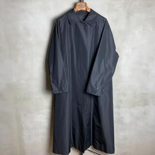 バーバリー(BURBERRY)の80s vintage balmacaan coat silk 一枚袖(スプリングコート)