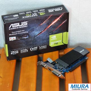 エイスース(ASUS)の【GPU】ASUS GT710-SL-2GD5-BRK (GDDR5 2GB)(PCパーツ)