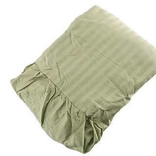 掛カバー 高密度織り サテン地 クイーン ストライプ柄 グリーン D1507(ソファカバー)