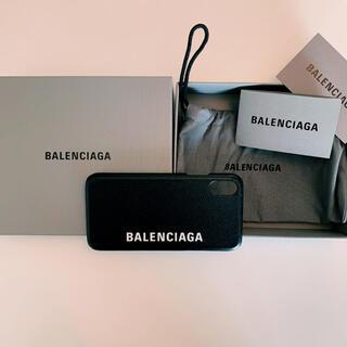 バレンシアガ(Balenciaga)の【BALENCIAGA】バレンシアガ iPhoneXSケース ブラック(iPhoneケース)