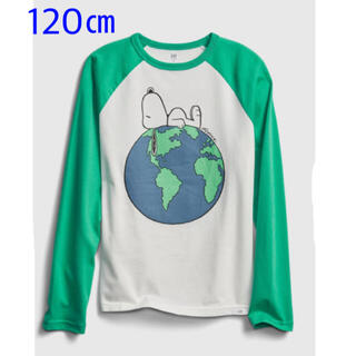 ギャップキッズ(GAP Kids)の『新品』GapKids×PEANUTS ラグラン長袖Tシャツ 120㎝(その他)