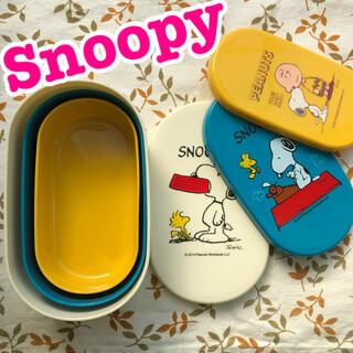 SNOOPY - スヌーピー☆フードコンテナ3個セット☆ランチトート付き☆ランチボックス