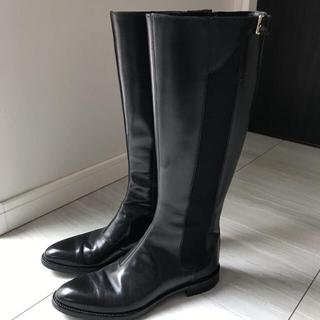 セルジオロッシ(Sergio Rossi)のセルジオロッシ サイドゴア ロングブーツ 黒 ブラック37(ブーツ)