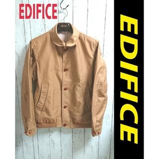 エディフィス(EDIFICE)のEDIFICE エディフィス ブルゾン ベージュ ジャケット アウター(ブルゾン)