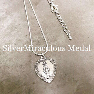 SilverMiraculous Medal necklace(ネックレス)