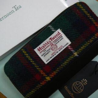 アフタヌーンティー(AfternoonTea)のアフタヌーンティー ハリスツィードコラボ長財布ラウンド(財布)