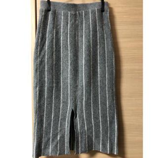 バンヤードストーム(BARNYARDSTORM)のバンヤードストーム*ボーダーニットスカート(セットアップニットは別出品あり)(ひざ丈スカート)