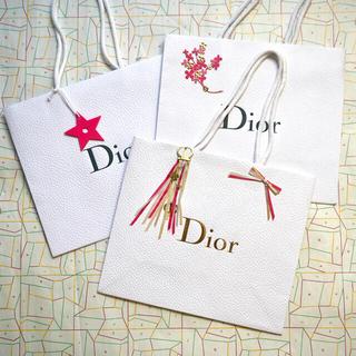 クリスチャンディオール(Christian Dior)の【限定】ディオール★ショッパー3枚セット(ショップ袋)