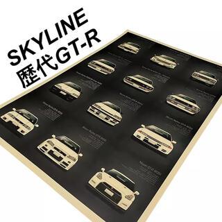 ポスター 036 スカイライン SKYLINE GT-R 歴代12車種 レア(絵画/タペストリー)