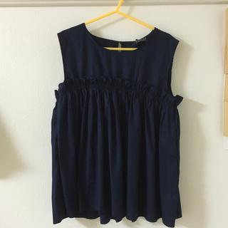 シマムラ(しまむら)の胸ギャザートップス(カットソー(半袖/袖なし))