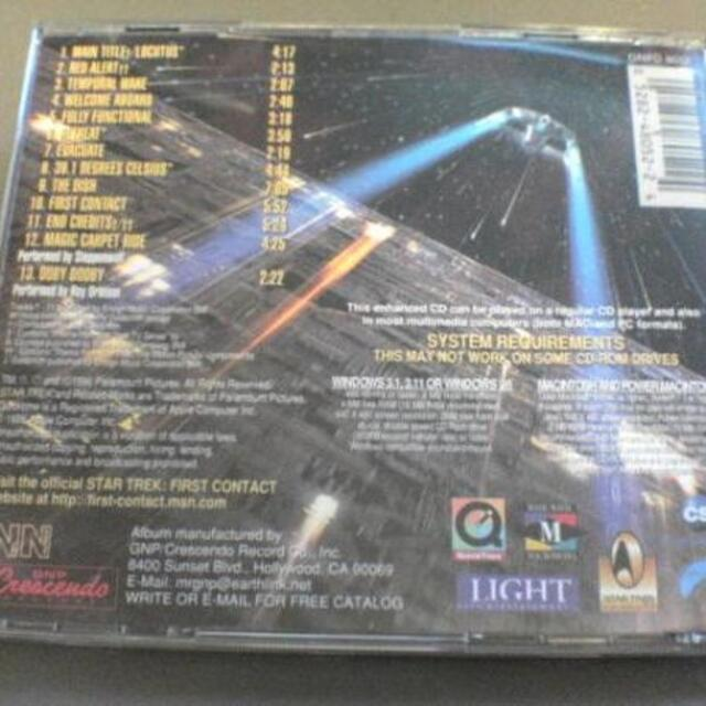 映画サントラCD「スタートレックFIRST CONTACT」★ エンタメ/ホビーのCD(映画音楽)の商品写真