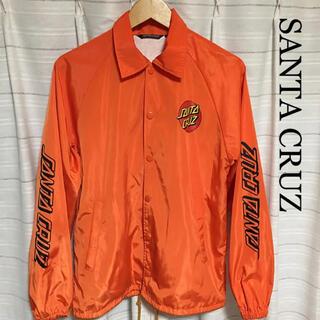 ステューシー(STUSSY)のサンタクルーズ  コーチジャケット ナイロン オレンジ stussy(ナイロンジャケット)
